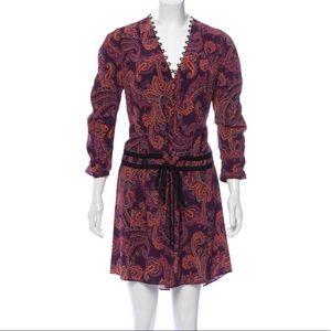 VERONICA BEARD 100% Silk Paisley Dress
